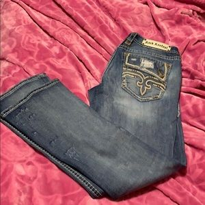 Rock Revival bootcut distressed jeans